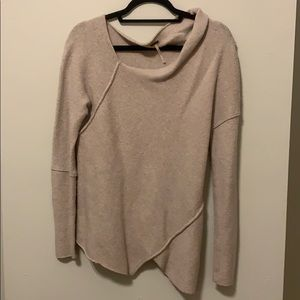 Free People Off The Shoulder Sweater - Tan
